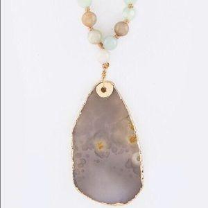 Bella Beaded Necklace- Amazonite